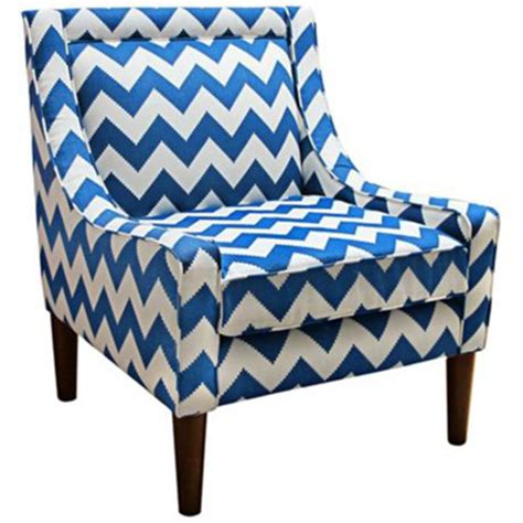 bright blue accent chairs modern chevron marine swoop accent chair decor by color