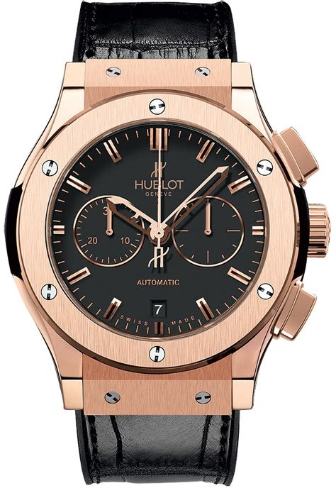Hublot Classic Rosegold Brown Leather hublot classic fusion black 18 carat gold black leather band automatic s