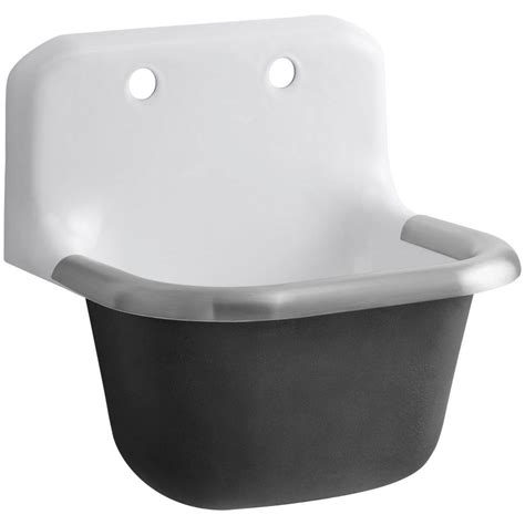 Service Sinks by Kohler Bannon 22 1 4 In X 18 1 4 In Cast Iron Service