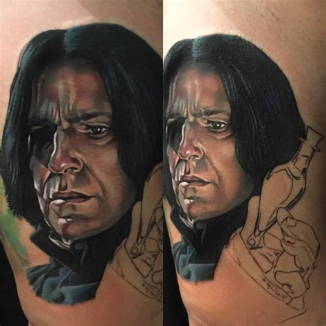 snape tattoo 15 shattering severus snape tattoos in memory of alan