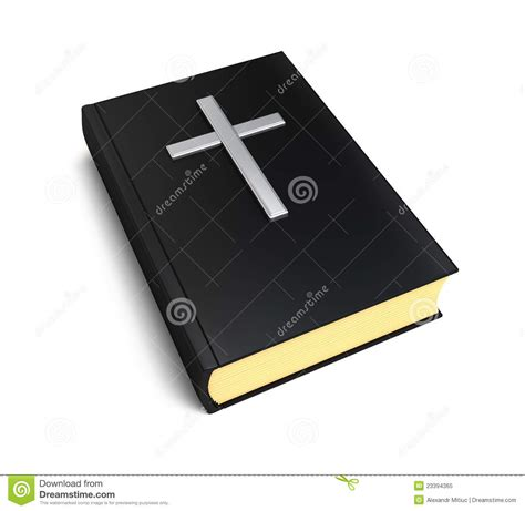picture bible book bible book and silver cross royalty free stock photo
