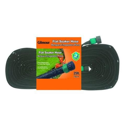 Home Depot Soaker Hose gilmour 5 8 in dia x 25 ft flat soaker water hose