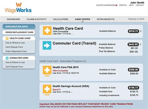 wage workds wageworks healthcare card wageworks