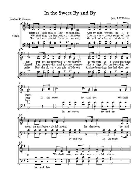 size song free printable southern gospel sheet for piano