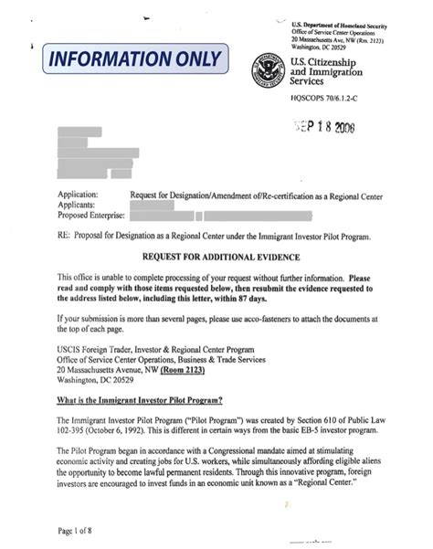 Client Invitation Letter For H1b Visa Actual Prospective Regional Center Rfe Redacted