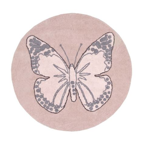 Tapis Rond Fille by Tapis Rond Pour Chambre De Fille Butterfly Canals