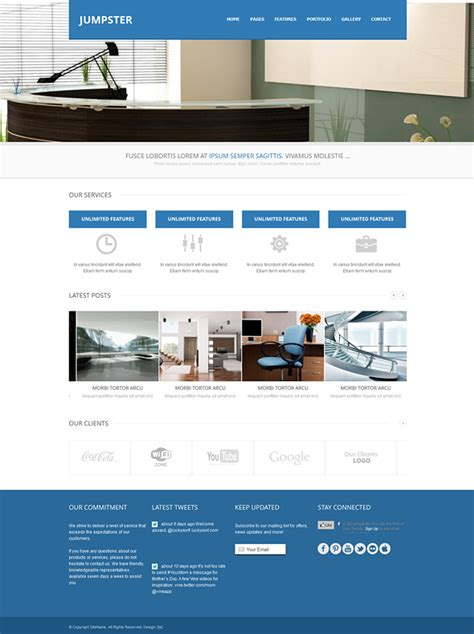 Jumpster Responsive Website Template Responsive Website Templates Pro Website Templates Responsive Web Form Template