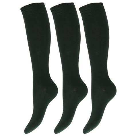 School Socks 1 children unisex knee high school socks pack of 3 ebay