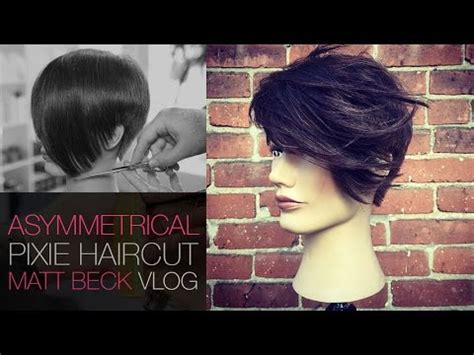 tutorial to cut asymetric pixie style asymmetrical undercut pixie haircut with tapered edge