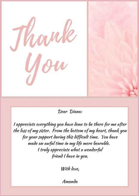 funeral thank you note 8 free word excel pdf format download