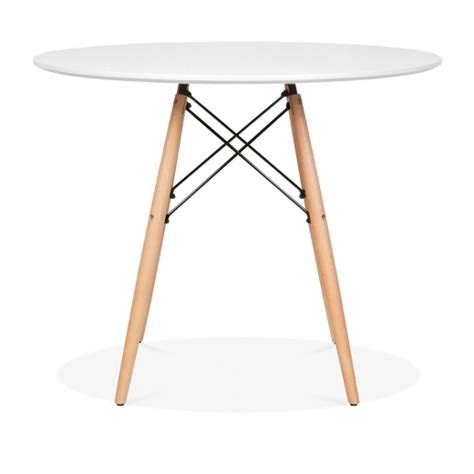 tisch hours white eames dsw table with wooden legs 90cm dining