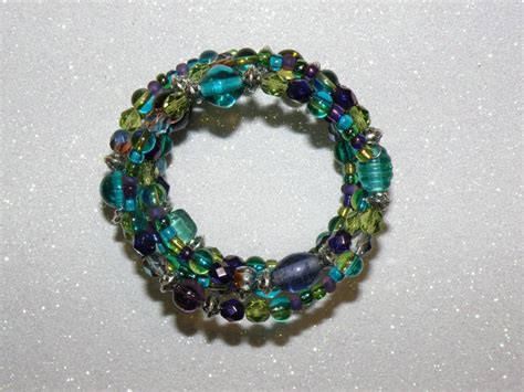 you to see mermaid memory wire bracelet on craftsy