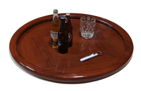 round wooden tray for ottoman furniture exciting image of solid red cherry wood round