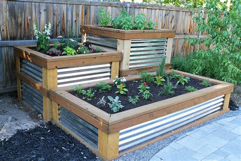 Raised Herb Planter Box by Build Your Own Raised Herb Garden On Twopeasandtheirpod