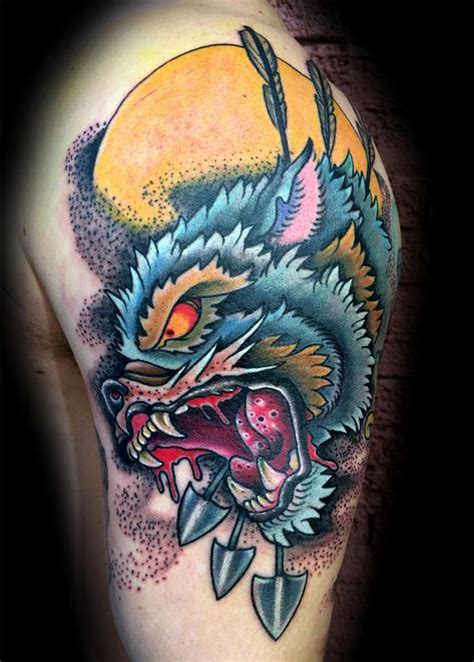 tattoo new school wolf paradise tattoo gathering tattoos traditional old