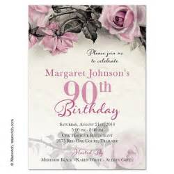 25 best ideas about 90th birthday invitations on