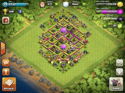 layout coc level 7 top 10 clash of clans town hall level 7 defense base design