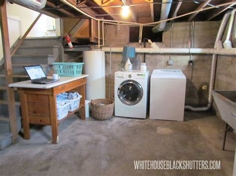 Unfinished Basement Laundry Room Ideas by 25 Best Ideas About Unfinished Laundry Room On