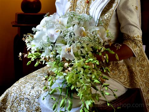 Bouquet of Phalenopsis orchids and lilies   Sri Lanka
