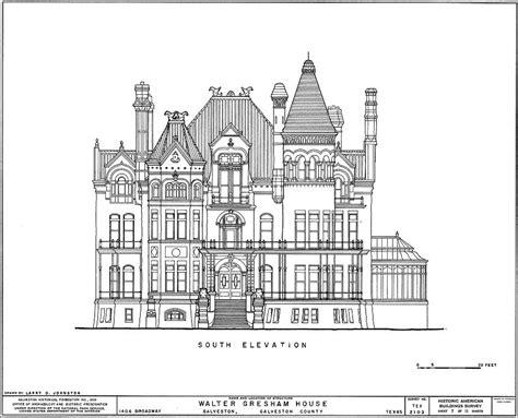 old mansion floor plans bishop s palace walter gresham house 05 plans