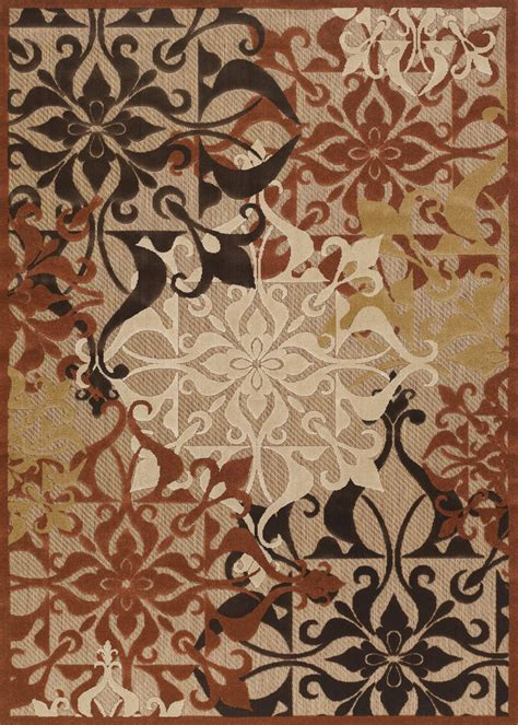 Urbane Collection By Couristan Gatesby Tan Terracotta Couristan Outdoor Rugs