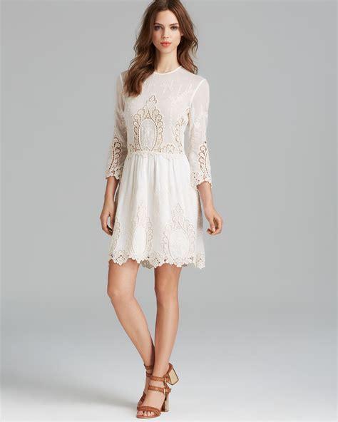 dolce vita dress valentina lace in white lyst