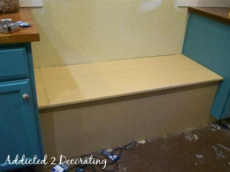 how to build a banquette seat with storage storage