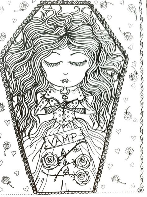 coloring book for goths coloriage coloring coloration