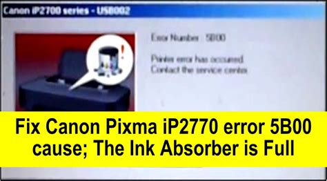 reset mp198 ink absorber full how to fix canon pixma ip2770 ip2772 error 5b00 youtube