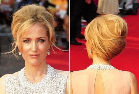 fabulous do it yourself haircuts gillian anderson s fabulous french twist do it yourself