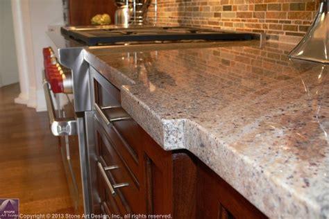 Eased Edge Granite Countertop by Custom Edges St Louis Mo Countertops Bars Bathrooms