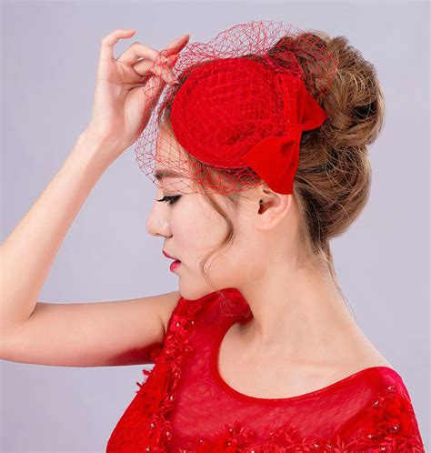 hot wedding hair accessories three piece for designer buy wholesale hot sales bowknot red gauze bridal