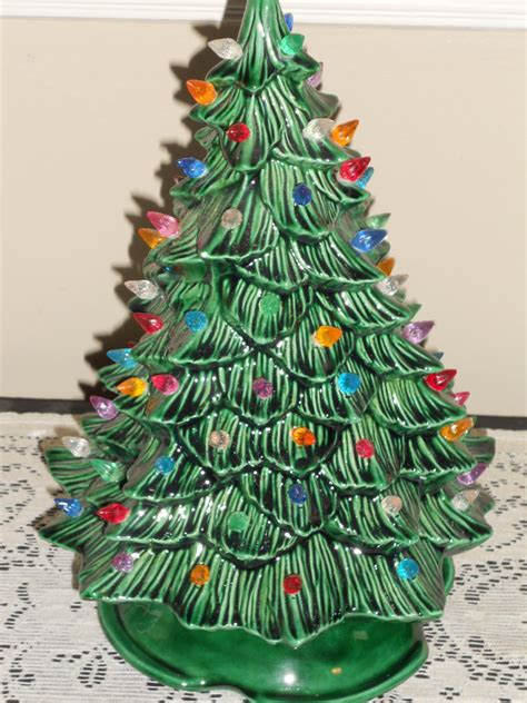 small ceramic christmas trees with lights vintage small green ceramic christmas tree with multi colored