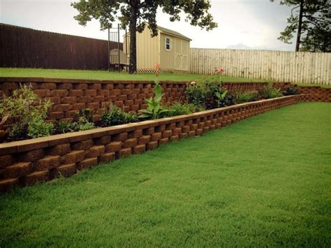 backyard retaining walls backyard retaining wall and flower bed all diy sloped