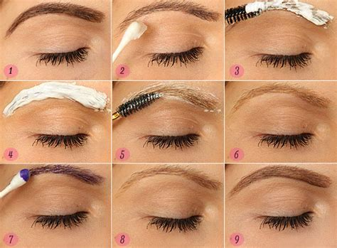 step by step how to bleach your eyebrows