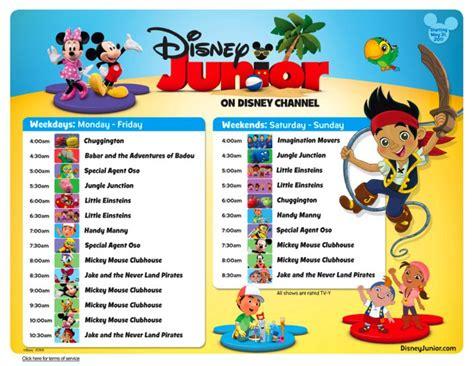 disney schedule disney junior channel image search results
