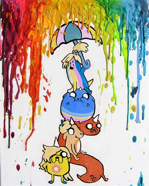 Adventure Time Jake And Finn Crayon Rainbow Iphone All Hp puppies adventure time melted crayon print by mayhemhere 18 00
