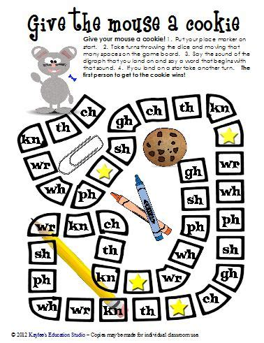 printable games for digraphs consonant digraph game free printable also available in