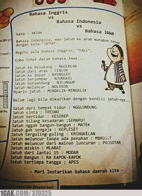 Bahasa Jawa 5 kelebihan bahasa jawa yang tidak dimiliki bahasa di