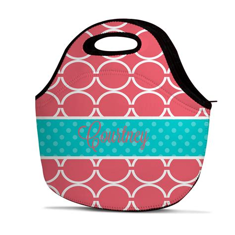personalized ladies chainlink lunch bags personalized