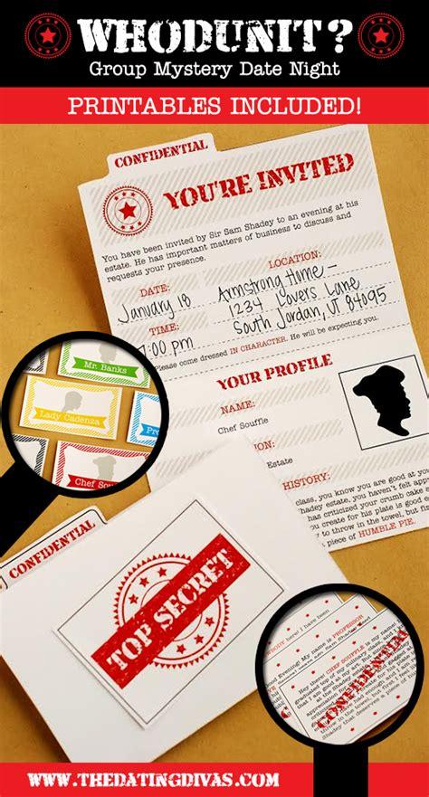 printable detective games who dunit group mystery date night