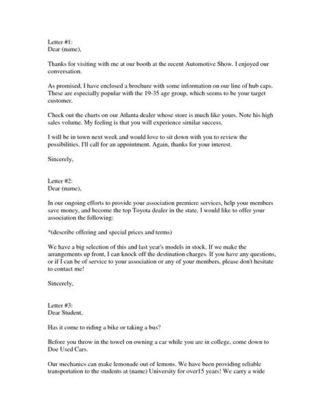 sale letter template best photos of auto sales letter templates sle sales