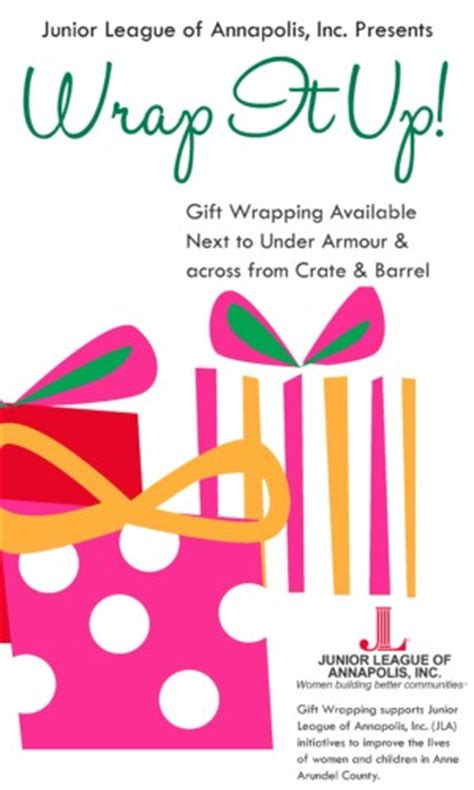 gift wrap fundraising wrap it up with the junior league of annapolis eye on