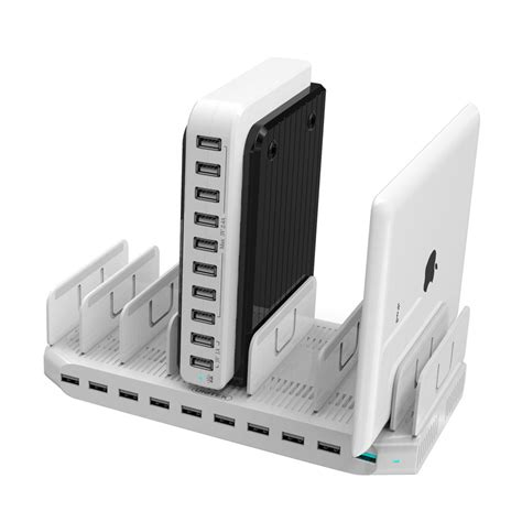Charging Station Organizer For Multiple Devices | unitek charging station for multiple device 10 port usb