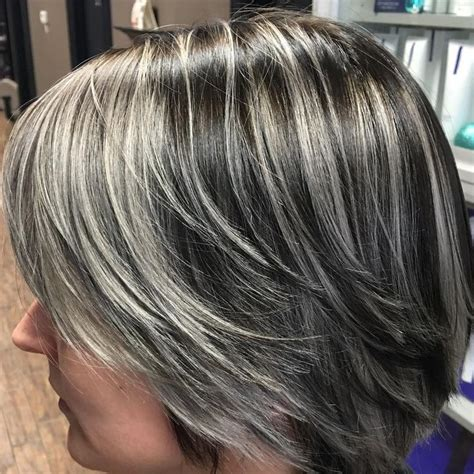 how to put grey highlights in black hair 404 best my salt and pepper hair images on pinterest