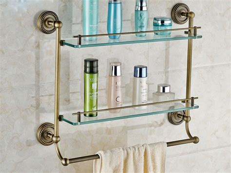 bathroom shelf with towel bar brushed nickel glass shelf with towel bar brushed nickel rmrwoods house