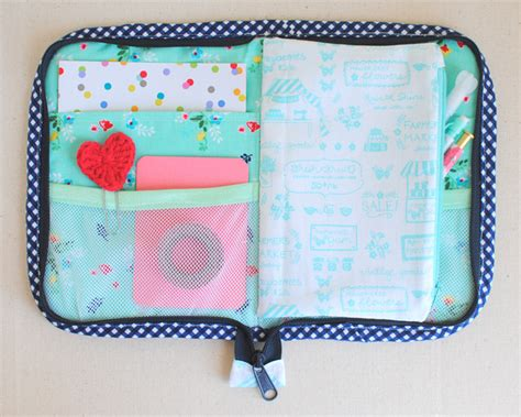 zippered fabric pouch pattern fabric pockets mesh pockets and a pencil pouch in this