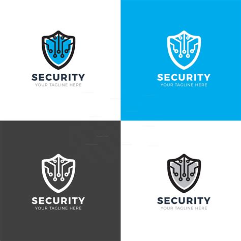 Security Shield Modern Logo Design Template 001913 Template Catalog Modern Logo Template