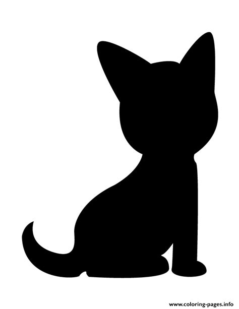 cute dog silhouette coloring pages printable
