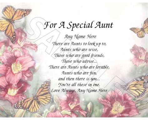 Quotes For Aunts Birthday Special Aunt Poems Quotes Quotesgram